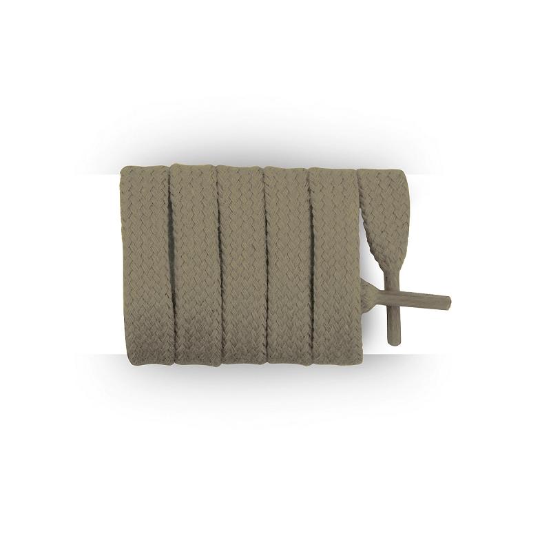 achat lacets plats et larges kaki clair 110 cm. Black Bedroom Furniture Sets. Home Design Ideas