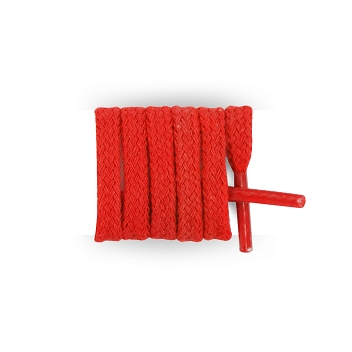 Lacets baskets mode plats coton longueur 40 cm, lacet rouge