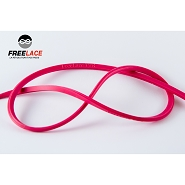 Lacets silicone running et trail 110 cm rose fluo
