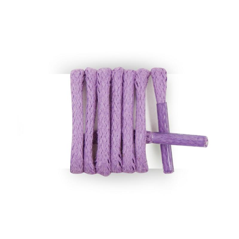 Achat Lacets ronds et fins cirés violet clair 60 cm | MesLacets.com